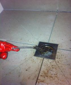 Using Hand Cable Machine To Clear Blocked Shower Drain